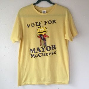 Vintage McDonalds Vote For Mayor McCheese T-Shirt